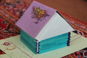House with glitter roof